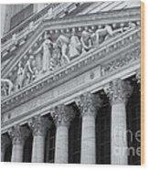 New York Stock Exchange II Wood Print
