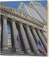 New York Stock Exchange Wall Street Nyse  Wood Print