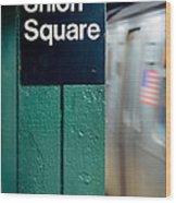 New York Subway Wood Print