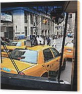 New York Taxi Cabs Wood Print