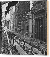 New York Ticker Tape Parade Wood Print