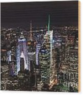 New York Times Square Wood Print