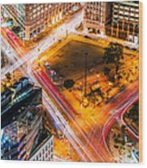 New York Traffic Wood Print