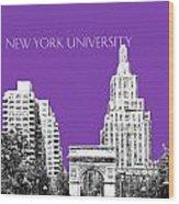 New York University - Washington Square Park - Purple Wood Print