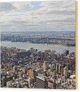 New York View Towards Jersey Wood Print