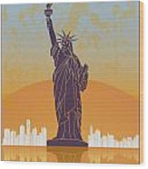 New York Vintage Poster Wood Print