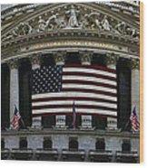 New York - Wall Street Panoramic Wood Print