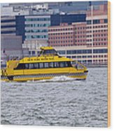 New York Water Taxi Wood Print