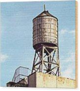 New York Water Tower 1 - New York Scenes  Wood Print