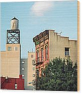 New York Water Tower 3 Wood Print