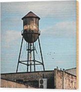 New York Water Tower 7 Wood Print