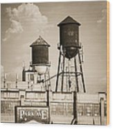 New York Water Tower 8 - Williamsburg Brooklyn Wood Print