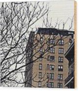 New York Winter Day Wood Print