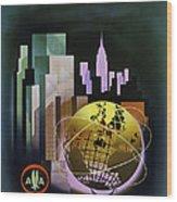 New York Worlds Fair Wood Print