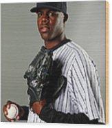 New York Yankees Photo Day Wood Print