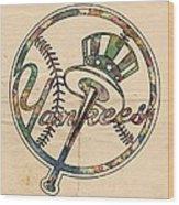 New York Yankees Poster Vintage Wood Print