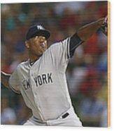 New York Yankees V Texas Rangers Wood Print