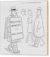 New Yorker February 21st, 1942 Wood Print