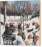 New Yorker February 26th, 1955 Wood Print