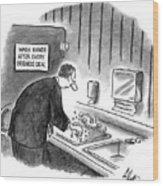 New Yorker January 19th, 1998 Wood Print