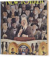 New Yorker January 25th, 1993 Wood Print