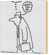 New Yorker June 20th, 1977 Wood Print by Charles Barsotti