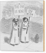 New Yorker May 19th, 1997 Wood Print by Roz Chast