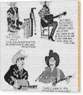 New Yorker May 27th, 1996 Wood Print