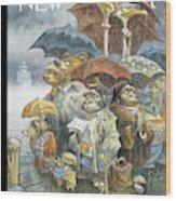 New Yorker November 21st, 2005 Wood Print by Peter de Seve