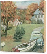 New Yorker October 11th, 1958 Wood Print