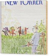 New Yorker September 21st, 1987 Wood Print