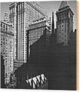 New York's Financial District Wood Print