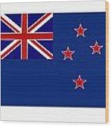 New Zealand Flag Wood Print