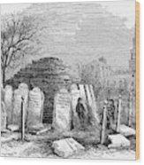Newark Cemetery, 1876 Wood Print