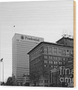 Newark  New Jersey In Black And White Wood Print