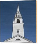 Newburyport Church Wood Print