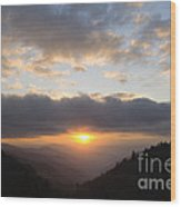 Newfound Gap Sunrise - D008233 Wood Print