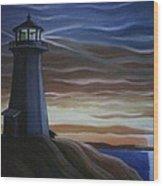 Newfoundland Lighthouse Wood Print