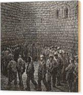 Newgate Prison Exercise Yard Wood Print