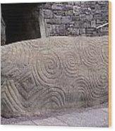 Newgrange Entrance Kerb Wood Print