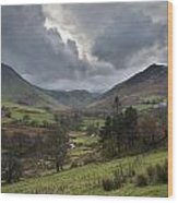 Newlands Valley Lake District National Park Wood Print