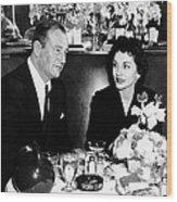 Newlyweds John Wayne, Left Wood Print