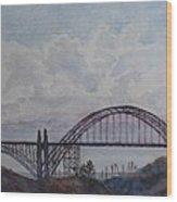 Newport Bay Bridge I Wood Print