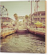Newport Beach Balboa Island Ferry Dock Photo Wood Print