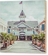 Newport Beach Balboa Main Street Vintage Picture Wood Print
