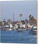 Newport Beach Harbor Wood Print