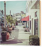 Newport Beach Main Street Balboa Peninsula Picture Wood Print