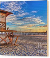 Newport Beach Pier - Wintertime  Wood Print