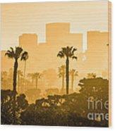 Newport Beach Skyline Morning Sunrise Picture Wood Print by Paul Velgos