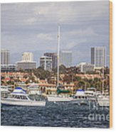 Newport Beach Skyline  Wood Print